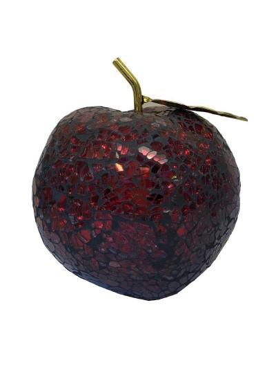 INART Επιτραπέζιο Γυάλινο Διακοσμητικό Μήλο Κωδικός: 3-70-151-0119 Διαστάσεις: 10,5Χ10,5Χ11 Εκατοστά