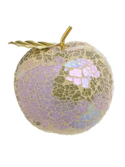 Επιτραπέζιο Διακοσμητικό Mήλο INART Ροζ/Χρυσό Κωδικός: 3-70-151-0120 Διαστάσεις: 10,5Χ10,05Χ11 Εκατοστά