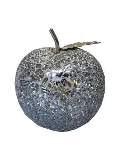 Επιτραπέζιο Διακοσμητικό Mήλο INART Aσημί Κωδικός: 3-70-151-0121 Διαστάσεις: 10,5Χ10,05Χ11 Εκατοστά