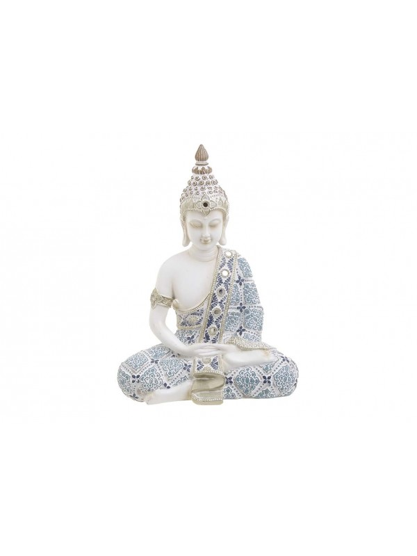 INART Βούδας Polyresin Λευκός/Μπλε Κωδικός: 3-70-547-0722 Διαστάσεις: 18Χ10Χ25 Εκατοστά