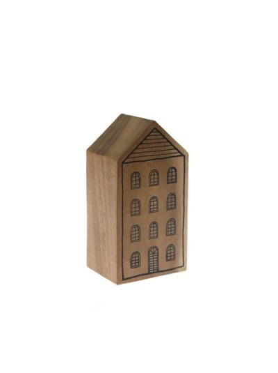 Ξύλινο Σπίτι Ζωγραφιστό 6X08X15 Εκατοστά