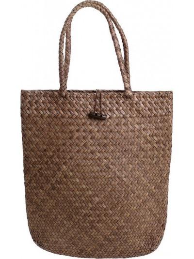 Ψάθινη Τσάντα INART Καφέ Κωδικός: 5-42-151-0091 Διαστάσεις: 35Χ3Χ39 Εκατοστά