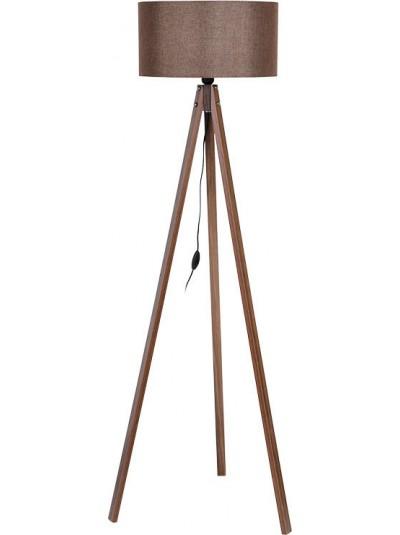 Φωτιστικό Δαπέδου Τρίποδο με Καφέ Καπέλο FYLLIANA Κωδικός: 835-91-087 Διαστάσεις: 40Χ150 Εκατοστά