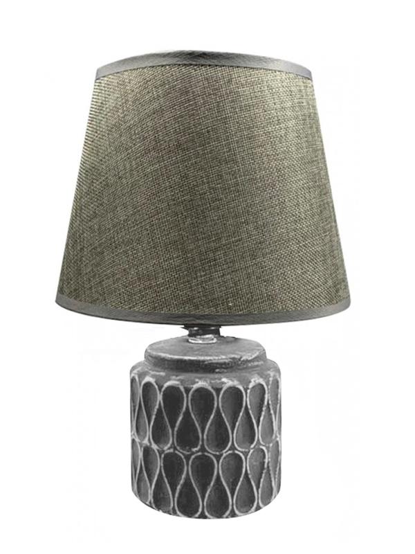 Επιτραπέζιο Φωτιστικό Κεραμικό Γκρι  Κωδικός: 05-950-2743-01   14Χ20εκ 30Χ20εκ καπέλο