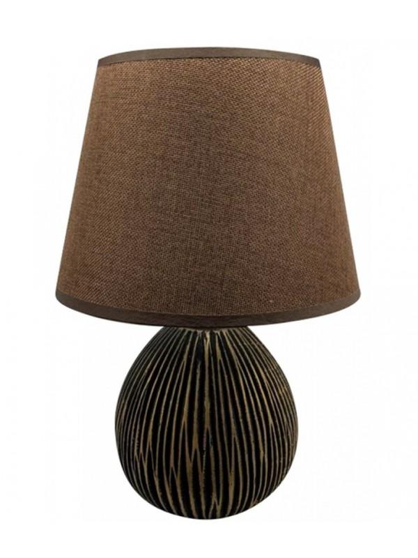Επιτραπέζιο Φωτιστικό Κεραμικό Καφέ Χρυσό Κωδικός: 05-950-2746 16Χ25Χ18εκ 34Χ25εκ καπέλο