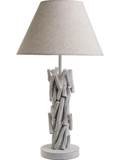 Επιραπέζιο Φωτιστικό - Πορτατίφ INART Ξύλινο Αντικέ Λευκό Κωδικός: 3-15-625-0006