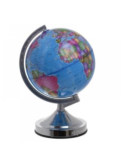 INART Επιτραπέζιο Φωτιστικό Υδρόγειος Με Φωτισμό Πλαστικό Γαλάζιο Κωδικός:  6-70-151-0016 Διαστάσεις: 20Χ22Χ32 Εκατοστά
