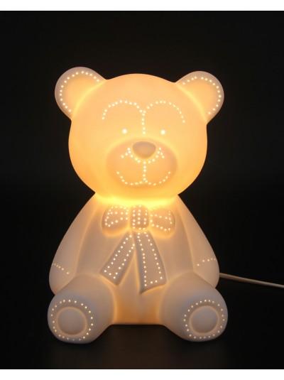 Λαμπατέρ Πορσελάνης Λευκό Teddy Bear Εκατοστά : 25     CSL16107400