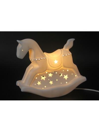 Λαμπατέρ Πορσελάνης Λευκό Rocking Horse Εκατοστά : 25.5   CSL16206800