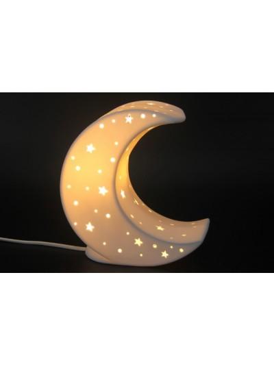 Λαμπατέρ Πορσελάνης Λευκό Moon Εκατοστά : 20.6   CSL15200200