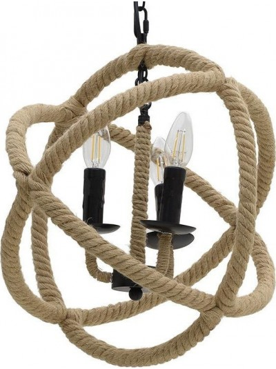 Φωτιστικό Οροφής INART με Σχοινί Μπεζ Κωδικός: 3-10-151-0005