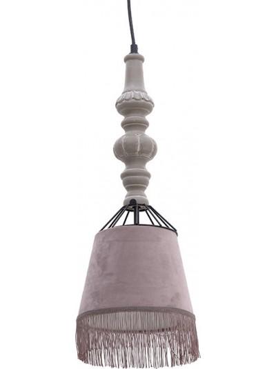 Φωτιστικό Οροφής INART Ξύλινο / Βελούδο Ροζ Κωδικός: 3-10-247-0002 Διαστάσεις: 20Χ20Χ16 Εκατοστά