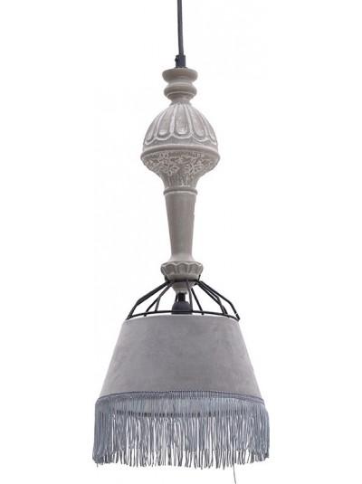 Φωτιστικό Οροφής INART Ξύλινο Βελούδινο Μονόφωτο Κωδικός: 3-10-247-0004 Διαστάσεις: 20Χ20Χ112 Εκατοστά