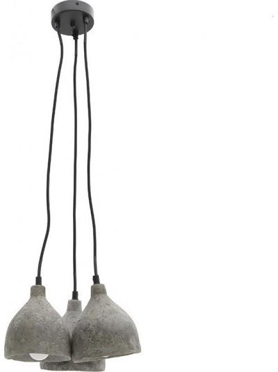Φωτιστικό Οροφής Τρίφωτο INART Τσιμεντένιο Γκρι Κωδικός: 3-10-716-0053 Διαστάσεις: 27Χ27Χ17 Εκατοστά
