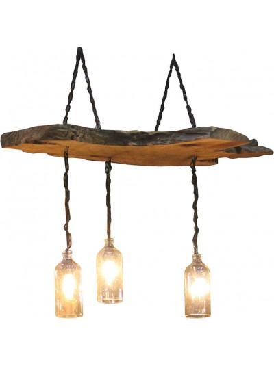 Φωτιστικό Οροφής Tρίφωτο INART Ξύλινο Κωδικός: 3-10-948-0001