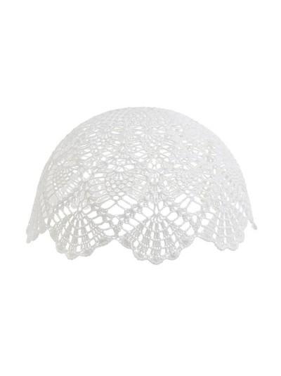 INART Καπέλο Φωτιστικού Πλεκτό Λευκό Κωδικός: 3-70-026-0057 Διαστάσεις: 37Χ37Χ20 Εκατοστά