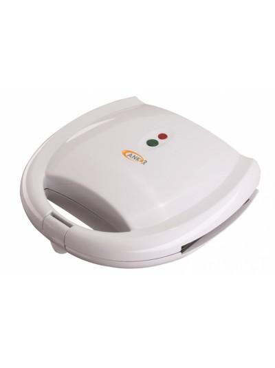 Τοστιέρα Λευκή 1200 Watt για 2 Τοστ με Αντικολλητικές Πλάκες Grill