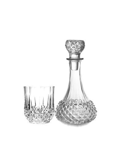 INART Σετ Καράφα Γυάλινη με 6 Ποτήρια με Πώμα Κωδικός: 6-60-504-0030