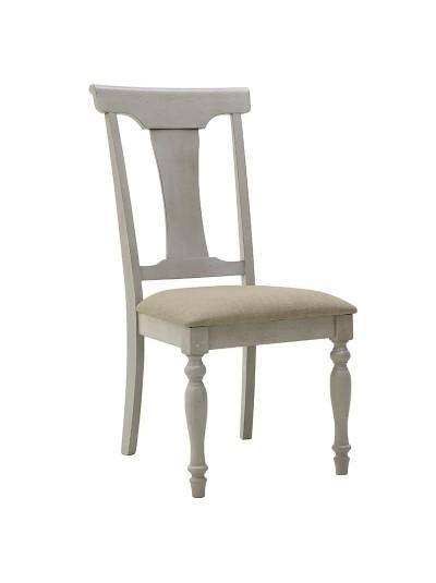 INART Ξύλινη Καρέκλα Λευκή-Κρεμ Κωδικός; 3-50-035-0009