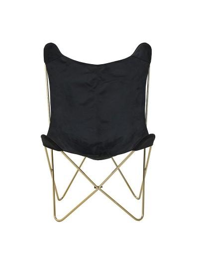 INART Καρέκλα Πεταλούδα Μαύρο-Χρυσό Κωδικός: 3-50-064-0017