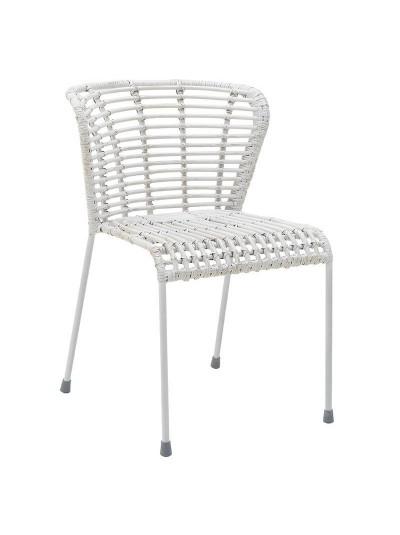 INART Καρέκλα Ραττάν Λευκή Κωδικός: 3-50-563-0016
