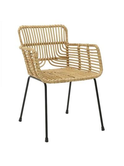 INART Καρέκλα Ραττάν Natural Κωδικός: 3-50-563-0018