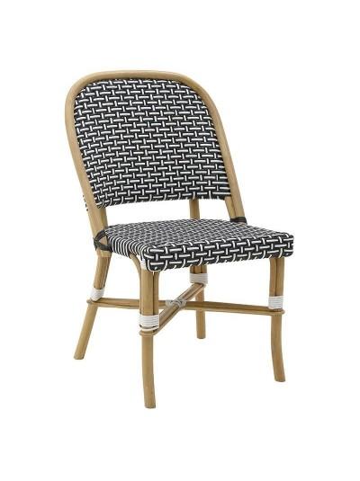 INART Καρέκλα Ραττάν Natural-Ασπρόμαυρη Κωδικός: 3-50-563-0021