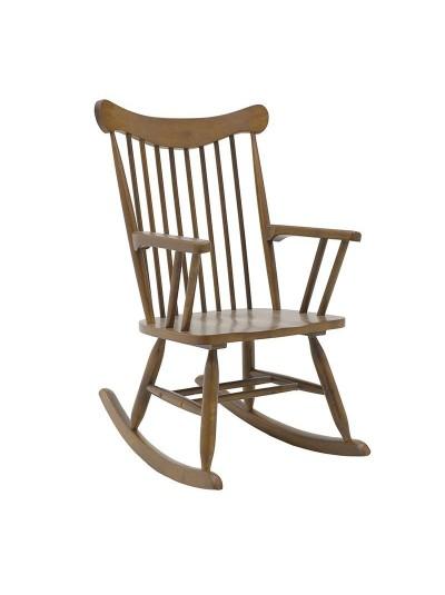 INART Ξύλινη Κουνιστή Καρέκλα Καφέ Κωδικός: 3-50-853-0020