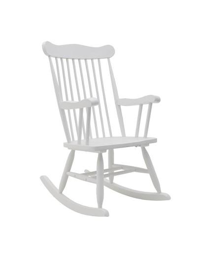 INART Ξύλινη Κουνιστή Καρέκλα Λευκή Κωδικός: 3-50-853-0021