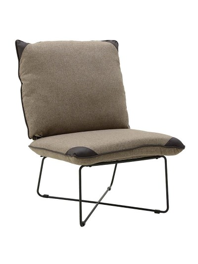 INART Υφασμάτινη/PU Καρέκλα Εκρού-Καφέ Κωδικός: 3-50-884-0005