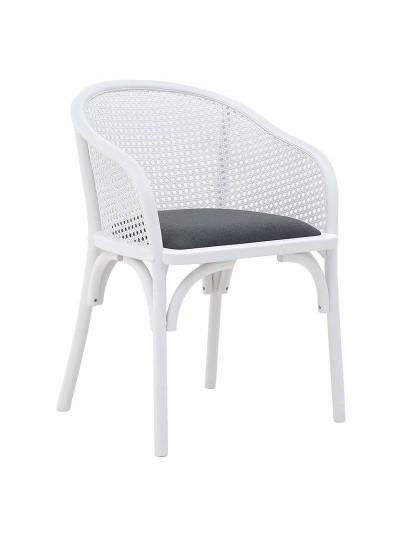 INART Καρέκλα Ξύλινη Λευκή Κωδικός: 3-50-941-0002