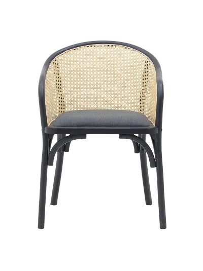 INART Καρέκλα Ξύλινη Μαύρη Κωδικός: 3-50-941-0003