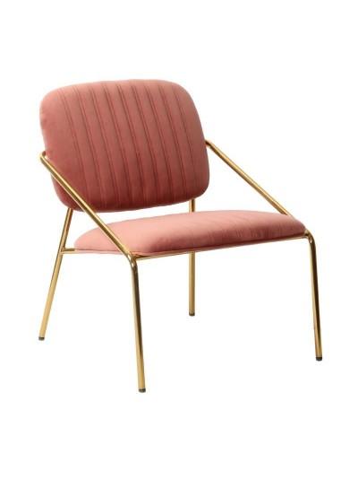 Καρέκλα Βελούδινη INART Μεταλλική Χρυσή Κωδικός: 3-50-991-0016 Διαστάσεις; 63Χ67Χ74 Εκατοστά