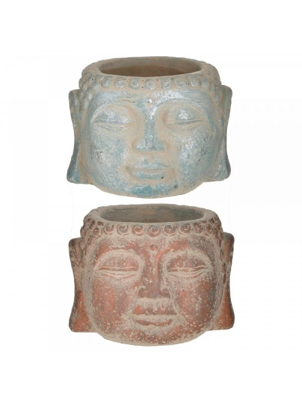 INART Κασπώ Τσιμεντένιο Βούδας 12Χ9εκ. 2 Χρώματα Κωδ: 6-70-508-0057