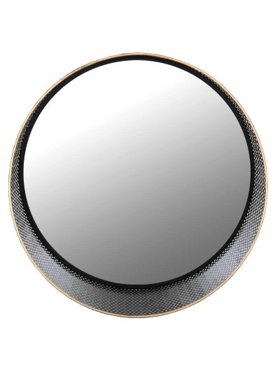 FYLLLIANA Καθρέπτης Στρόγγυλος Μεταλλικός Μαύρο-Χρυσό Κωδικός: 128-92-030 Διαστάσεις: 50Χ15 Εκατοστά