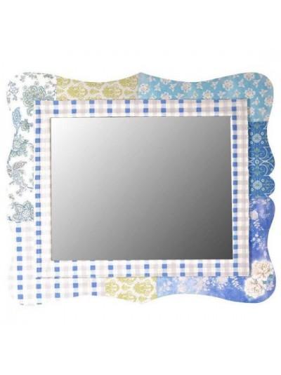 Καθρέπτης Ξύλινος Πάτσγουορκ INART Μπλε Κωδικός: 3-95-216-0003 Διαστάσεις: 73x1x64  Εκατοστά