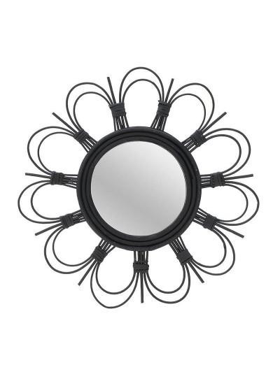 Καθρέπτης Τοίχου INART Ξύλινος Μαύρός Κωδικός: 3-95-273-0011 Διαστάσεις: 50Χ3Χ50 Εκατοστά