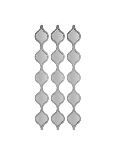 INART Καθρέπτης Τοίχου Σετ Των 3 Διαστάσεις (ΜΠΥ) 12εκ x 2εκ x 90εκ 3-95-413-0004 3-95-413-0004