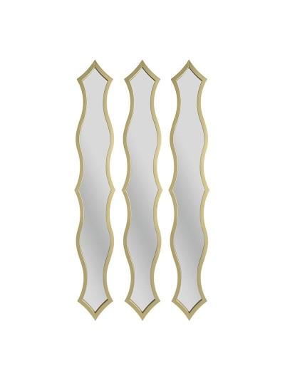 INART Καθρέπτης Τοίχου Σετ Των 3 Διαστάσεις (ΜΠΥ)13εκ x 2εκ x 80εκ  3-95-413-0006 3-95-413-0006