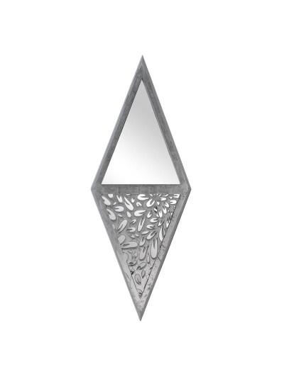 Καθρέπτης Τοίχου Ξύλίνος Ρόμβος INART Κωδικός: 3-95-536-0017 Διαστάσεις: 45Χ4Χ120 Εκατοστά