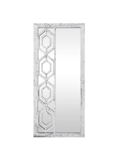 Καθρέπτης Τοίχου Ξύλινος INART Ασημί Κωδικός: 3-95-536-0019 Διαστάσεις: 45Χ4Χ100 Εκατοστά