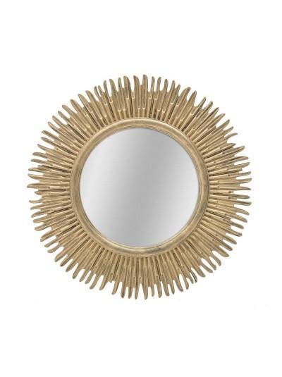 INART Καθρέπτης Τοίχου Πλαστικός Χρυσός Δ50 Κωδικός: 3-95-925-0018
