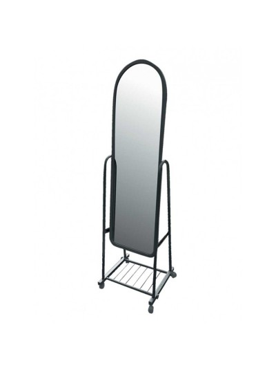 Καθρέφτης Δαπέδου Μεταλλικός Μαύρο Χρώμα Kωδικός: 33-950-1265 Διαστάσεις: 43Χ43Χ120 Εκατοστά