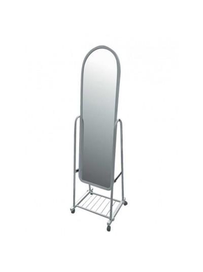 Καθρέφτης Δαπέδου Μεταλλικός Λευκό Χρώμα Kωδικός: 33-950-1265 Διαστάσεις: 43Χ43Χ120 Εκατοστά