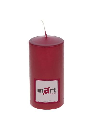 Κερί Παραφίνης Μπορντώ INART Κωδικός: 3-80-474-0017 Διαστάσεις:  7Χ7Χ14 Εκατοστά