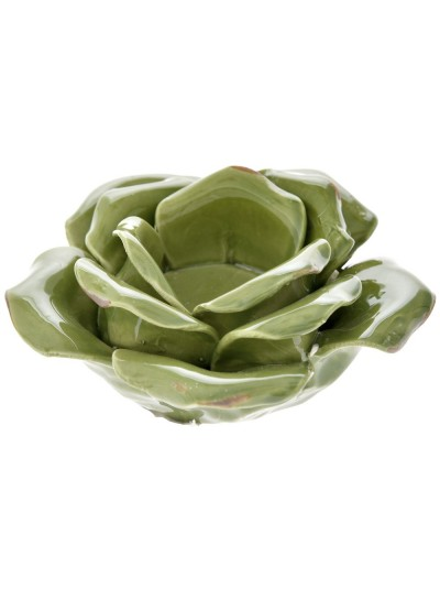 Κηροπήγιο Λουλούδι Πράσινο 12Χ6 Εκατοστά