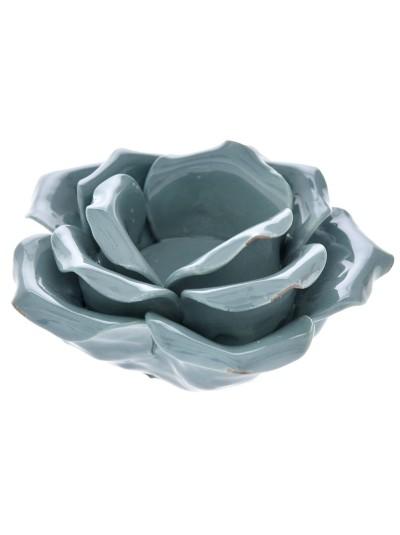 Κηροπήγιο Λουλούδι Μπλε 12Χ6 Εκατοστά