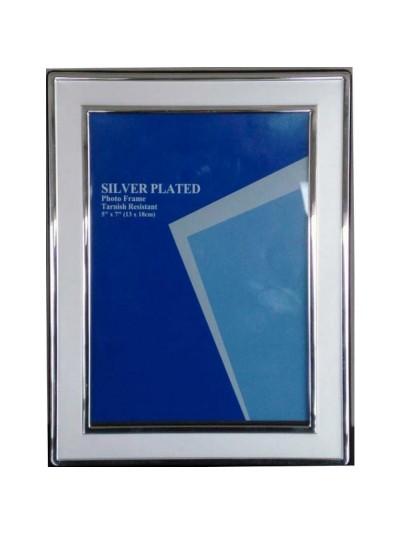 Επάργυρη Κορνίζα 10Χ15 με ματ περίγραμμα και γυαλιστερό πλαίσιο Κωδικός: 2223-4