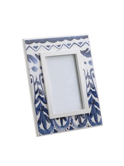INART Ξύλινη Κορνίζα 10X15 Μπλε/Λευκό Κωδικός: 3-30-105-0122