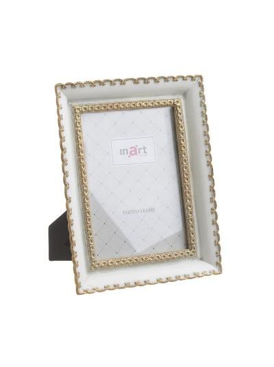 INART Polyresin Κορνίζα 10X15 Λευκό/Χρυσό Κωδικός: 3-30-383-0164
